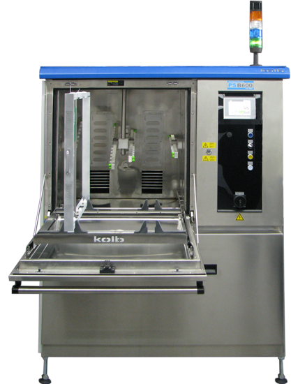высокопроизводительная автоматическая система струйной отмывки печатных плат kolb серии psb600